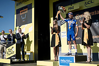 yellow jersey / GC leader Julian Alaphilippe (FRA/Deceuninck - Quick-Step) surprisingly wins the TT stage around Pau <br /> <br /> Stage 13 (ITT): Pau to Pau(27km)<br /> 106th Tour de France 2019 (2.UWT)<br /> <br /> ©kramon