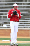 21 May 2016: Louisville's Kyle Funkhouser. The Wake Forest University Demon Deacons played the University of Louisville Cardinals in an NCAA Division I Men's baseball game at David F. Couch Ballpark in Winston-Salem, North Carolina. Louisville won the game 9-4.