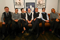 MELBOURNE, 30 June 2017 – Tim Sawyer from Restaurant Philippe and his front of house staff pose for a photograph after a dinner celebrating Philippe Mouchel's 25 years in Australia with six chefs who worked with him in the past at Philippe Restaurant in Melbourne, Australia.