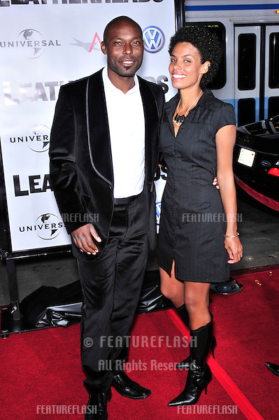 """Jimmy Jean-Louis & date at the world premiere of """"Leatherheads"""" at Grauman's Chinese Theatre..March 31, 2008  Los Angeles, CA.Picture: Paul Smith / Featureflash"""