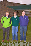Graham Dundon Junior Captain Waterville Golf Club had his drive in on Sunday last pictured here l-r; Finbar McGillicuddy(Captain WGC), Graham Dundon & Robbie O'Mahony(Junior Officer WGC)