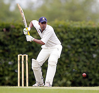 Ashan Athukoralage bats for Wembley during the Middlesex County Cricket League Division Three game between Wembley and North London at Vale Farm, Wembley on Sat May 31, 2014