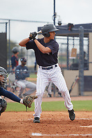 New York Yankees Isaiah Pasteur (45) during a Minor League Spring Training game against the Atlanta Braves on March 12, 2019 at New York Yankees Minor League Complex in Tampa, Florida.  (Mike Janes/Four Seam Images)