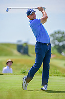Gary Woodland  (USA) watches his tee shot on 13 during Friday's round 2 of the 117th U.S. Open, at Erin Hills, Erin, Wisconsin. 6/16/2017.<br /> Picture: Golffile | Ken Murray<br /> <br /> <br /> All photo usage must carry mandatory copyright credit (&copy; Golffile | Ken Murray)