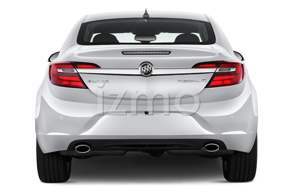Straight rear view of 2017 Buick Regal Sport-Touring 4 Door Sedan Rear View  stock images