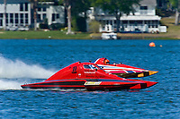 "Brandon Kennedy, T-1 ""Shameless Say What?"", 1 Litre Stock hydroplane and John Shaw, T-125 ""My Shameless Mistake"", 1 Litre Stock class hydroplane"