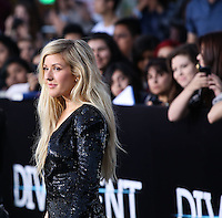 "WESTWOOD, LOS ANGELES, CA, USA - MARCH 18: Ellie Goulding at the World Premiere Of Summit Entertainment's ""Divergent"" held at the Regency Bruin Theatre on March 18, 2014 in Westwood, Los Angeles, California, United States. (Photo by Xavier Collin/Celebrity Monitor)"