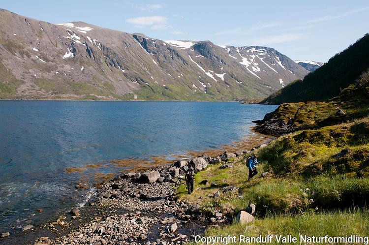 Jøfjorden på Seiland rett ved Skreifjordeidet. ---- From Jøfjorden on Seiland.