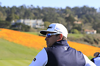Rafa Cabrera-Bello (ESP) at the 8th tee during Sunday's Final Round of the 2018 AT&amp;T Pebble Beach Pro-Am, held on Pebble Beach Golf Course, Monterey,  California, USA. 11th February 2018.<br /> Picture: Eoin Clarke | Golffile<br /> <br /> <br /> All photos usage must carry mandatory copyright credit (&copy; Golffile | Eoin Clarke)