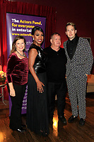 LOS ANGELES - OCT 6: Dianne Fraser, Sheryl Lee Ralph, David Galligan, Shawn Ryan at the Right This Way, Your Table's Waiting cabaret performance - to benefit The Actors Fund held at  The Catalina Jazz Club on October 8, 2017 in Los Angeles, CA