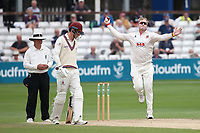 Simon Harmer in bowling action for Essex during Essex CCC vs Somerset CCC, Specsavers County Championship Division 1 Cricket at The Cloudfm County Ground on 25th June 2019
