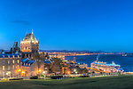 Canada, Quebec, Quebec City, Twilight Old Town