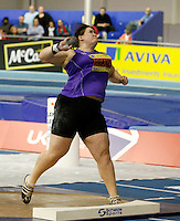 Photo: Richard Lane/Richard Lane Photography. Aviva World Trials & UK Championships. 13/02/2010. Rebecca Peake in the women's shot put.