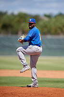 GCL Mets relief pitcher Adonis Uceta (16) delivers a pitch during a game against the GCL Cardinals on August 6, 2018 at Roger Dean Chevrolet Stadium in Jupiter, Florida.  GCL Cardinals defeated GCL Mets 6-3.  (Mike Janes/Four Seam Images)