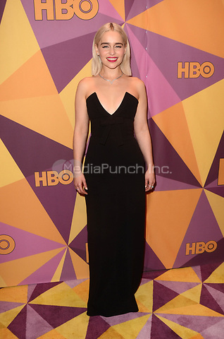 BEVERLY HILLS, CA - JANUARY 7: Emilia Clarke at the HBO Golden Globes After Party, Beverly Hilton, Beverly Hills, California on January 7, 2018. Credit: <br /> David Edwards/MediaPunch