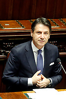 Giuseppe Conte <br /> Rome September 9th 2019. Lower Chamber. Programmatic speech of the new appointed Italian Premier at the Chamber of Deputies to explain the program of the yellow-red executive. After his speech the Chamber is called to the trust vote at the new Government. <br /> Foto  Samantha Zucchi Insidefoto