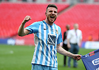 28th May 2018, Wembley Stadium, London, England;  EFL League 2 football, playoff final, Coventry City versus Exeter City; Chris Stokes of Coventry City celebrates after the final whistle