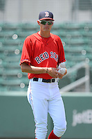 GCL Red Sox pitcher Trey Ball (62) during a game against the GCL Twins on July 19, 2013 at JetBlue Park at Fenway South in Fort Myers, Florida.  GCL Red Sox defeated the GCL Twins 4-2.  (Mike Janes/Four Seam Images)