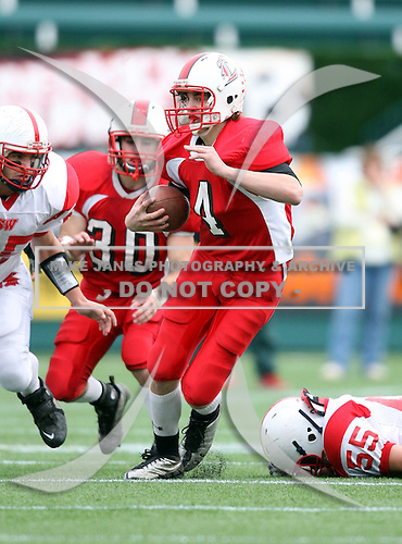 Southwestern Trojans varsity football against the Letchworth Indians during a Western Regional game at Marina Auto Stadium on November 14, 2009 in Rochester, New York.  Southwestern defeated Letchworth 28-14.  (Copyright Mike Janes Photography)