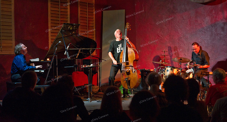 Hexen Trio with Paul Plimley, piano;  Barry Guy, bass and Lucas Niggli, drums and percussion at the Ironworks.