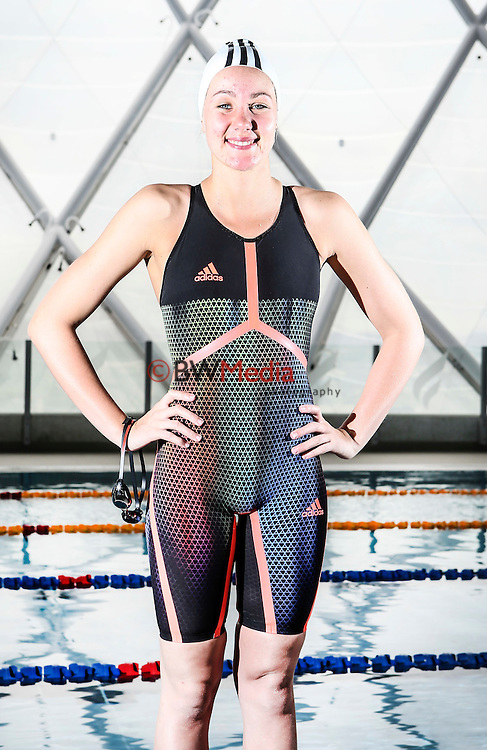 NZ Swimmer Bobbi Gichard. Adidas Swim racesuit launch at the Swimming New Zealand High Performance Centre, Owen G Glenn National Aquatic Centre, Auckland New Zealand. Photo: Simon Watts/www.bwmedia.co.nz