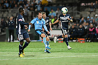 17th November 2019; Jubilee Oval, Sydney, New South Wales, Australia; A League Football, Sydney Football Club versus Melbourne Victory; Adam le Fondre of Sydney shoots from outside the area to score for 1-1 in the 61st minute