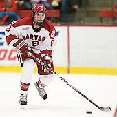 Patrick McNally (Harvard - 8) - The Harvard University Crimson defeated the University of New Hampshire Wildcats 7-6 on Tuesday, November 22, 2011, at Bright Hockey Center in Cambridge, Massachusetts.