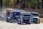 German driver Jochen  Hahn belonging German team Jochen Hahn German driver Rene Reinert belonging German team Rene Reinert Czech driver Adam Lacko belonging Czech team Buggyra International Racing System during the third race R3 of the XXX Spain GP Camion of the FIA European Truck Racing Championship 2016 in Madrid. October 02, 2016. (ALTERPHOTOS/Rodrigo Jimenez)