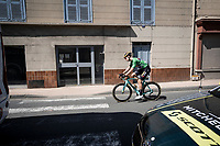 Wout van Aert (BEL/Jumbo-Visma) on his way to the start<br /> <br /> Stage 5: Boën-sur-Lignon to Voiron (201km)<br /> 71st Critérium du Dauphiné 2019 (2.UWT)<br /> <br /> ©kramon