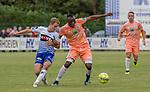 2018-06-23 / Voetbal / seizoen 2018 -2019 / KSK Heist - RSC Anderlecht / Philippe Janssens (l.KSK Heist) met Edo Kayembe ,Foto: Mpics.be