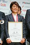 Yukari Kinga (Leonessa), November 13, 2012 - Football / Soccer : Plenus Nadeshiko LEAGUE 2012 Award ceremony in Tokyo, Japan. (Photo by Yusuke Nakanishi/AFLO SPORT).