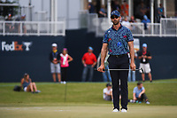 Cameron Tringale (USA) lines up his putt on 18 during round 4 of the 2019 Houston Open, Golf Club of Houston, Houston, Texas, USA. 10/13/2019.<br /> Picture Ken Murray / Golffile.ie<br /> <br /> All photo usage must carry mandatory copyright credit (© Golffile | Ken Murray)