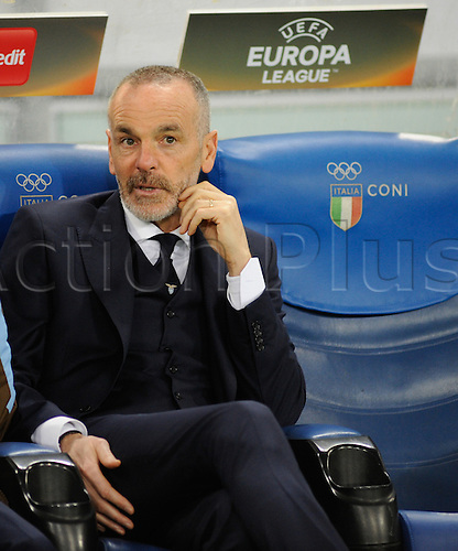 25.02.2016. Stadio Olimpico, Rome, Italy. Uefa Europa League, Return leg of SS Lazio versus Galatasaray. Coach of Lazio Stefano Pioli