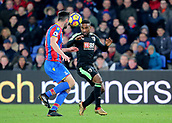 9th December 2017, Selhurst Park, London, England; EPL Premier League football, Crystal Palace versus Bournemouth; Jermain Defoe of Bournemouth clashes with Scott Dann of Crystal Palace