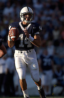 04 September 2004:  Anthony Morelli, Penn State freshman QB, throws a pass during the fourth quarter.  Penn State defeated Akron 48-10 during their season opener 9-4-04 at Beaver Stadium in State College, PA....