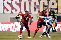 Juan Agudelo (9) of the United States. The United States (USA) and Argentina (ARG) played to a 1-1 tie during an international friendly at the New Meadowlands Stadium in East Rutherford, NJ, on March 26, 2011.