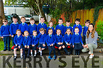 Junior Infants 1 at Scoil Mhuire, Killorglin with their teacher Miss O'Shea