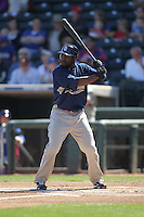 SURPRISE - MARCH 12:  Tony Gwynn of the San Diego Padres bats during a spring training game against the Texas Rangers on March 12, 2010 at Surprise Stadium in Surprise, Arizona. (Photo by Brad Mangin)
