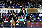 DURHAM, NC - NOVEMBER 24: Duke's Jessi Bartholomew. The Duke University Blue Devils hosted the University of North Carolina Tar Heels on November 24, 2017 at Cameron Indoor Stadium in Durham, NC in a Division I women's college volleyball match. Duke won 3-0 (25-21, 25-22, 25-20).