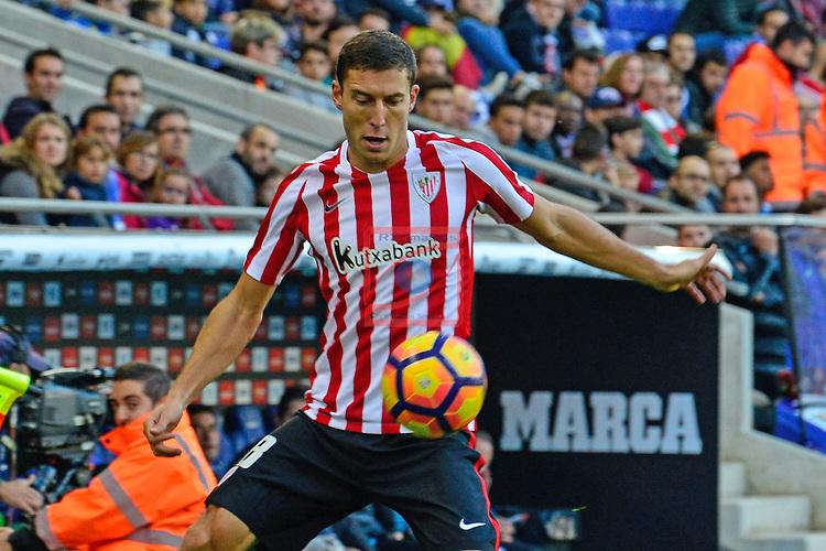 League Santander 2016/2017. Game: 11.<br /> RCD Espanyol vs Athletic Club: 0-0.<br /> Oscar de Marcos.