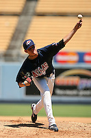 August 9 2008: Tyler Matzek participates in the Aflac All American baseball game for incoming high school seniors at Dodger Stadium in Los Angeles,CA.  Photo by Larry Goren/Four Seam Images