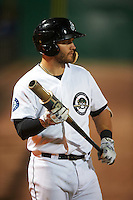 Jackson Generals first baseman D.J. Peterson (33) on deck during a game against the Jacksonville Suns on May 4, 2016 at The Ballpark at Jackson in Jackson, Tennessee.  Jackson defeated Jacksonville 11-6.  (Mike Janes/Four Seam Images)