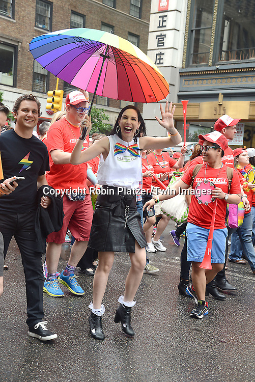 Jill Kargman and husband of &quot;Odd Mom Out&quot; attends the 2015 NYC Pride March on June 28, 2015 on Fifth Avenue in New York City. <br /> <br /> photo by Robin Platzer/Twin Images<br />  <br /> phone number 212-935-0770