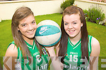 Killarney basketballers Rheanne O'Shea and Laura Moloney who will be playing for Ireland in the u16 European championships in Estonia starting on Thursday