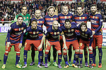FC Barcelona's team photo with Claudio Bravo, Javier Mascherano, Ivan Rakitic, Jeremy Mathieu, Sergio Busquets, Gerard Pique, Leo Messi, Neymar Jr, Andres Iniesta, Luis Suarez and Sergi Roberto during La Liga match. March 3,2016. (ALTERPHOTOS/Acero)