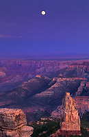 749220027 a full moon rises over mount hayden and point imperial on the north rim of grand canyon national park in northern arizona