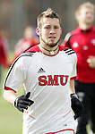 08 December 2005: SMU's Kellan Zindel during a team practice at SAS Stadium in Cary, North Carolina in preparation for the NCAA Men's Division I College Cup semifinals to be played the following day.