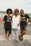 Another World's Rhonda Ross and Judy and founder Deborah Koenigsberger at Hearts of Gold Run/Walk for Kids 2018 join with kids and their moms in New York City, New York. After the walk they did tug of war, hop scotch, card games, exercise, food, a fun day on the pier. (Photo by Sue Coflin/Max Photo)