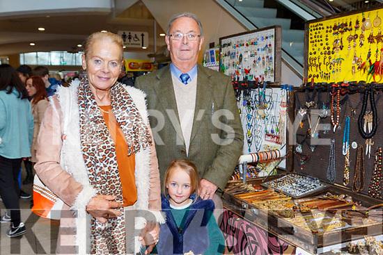 Bernie, Ellie Mae and Michael O'Sullivan at the Christmas fair in Killarney Outlet Centre on Sunday