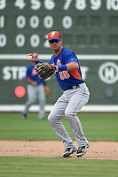 New York Mets infielder Matt Reynolds (55) during a Spring Training game against the Boston Red Sox on March 16, 2015 at JetBlue Park at Fenway South in Fort Myers, Florida.  Boston defeated New York 4-3.  (Mike Janes/Four Seam Images)